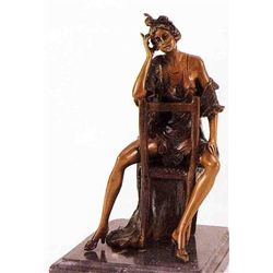"""Saloon Girl"" Bronze Sculpture Inspired - Icart"