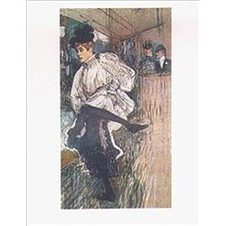 "Toulouse Lautrec ""Jane Avril Dancing"""