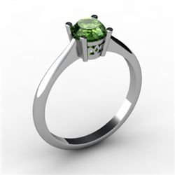 Tourmaline 0.45 ctw Ring 14kt White Gold