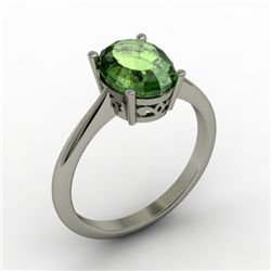 Tourmaline 2.30 ctw Ring 14kt White Gold