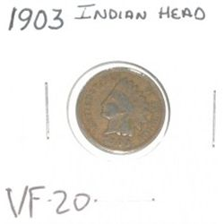 1903 INDIAN HEAD PENNY *RARE VERY FINE-20 GRADE - NICE COIN*!!