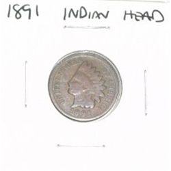 1891 INDIAN HEAD PENNY *PLEASE LOOK AT PICTURE TO DETERMINE GRADE - NICE COIN*!!