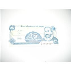 NICARAGUA 25 VEINTICINCO CENTAVOS NOTE *EXTREMELY RARE UNC HIGH GRADE*!!