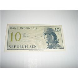 1964 INDONESIA 10 SEN NOTE *EXTREMELY RARE UNC HIGH GRADE*!!
