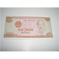 1987 VIETNAM 200 DONG NOTE *EXTREMELY RARE UNC HIGH GRADE*!!