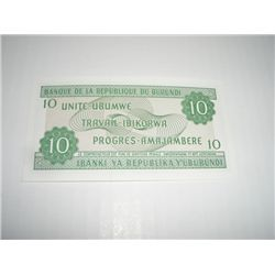 2007 BURONDI 10 FRANCS NOTE *EXTREMELY RARE UNC HIGH GRADE*!!