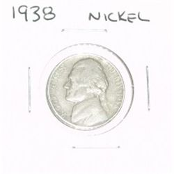 1938 JEFFERSON NICKEL *1st YEAR JEFFERSON NICKEL*!!