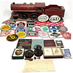 Railroad Model, Memorabilia, and Ephemera c1882-1944 - 2012aug -  Railroadiana
