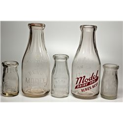 Reno Model Dairy Bottle Collection NV - Reno,Washoe County - c1930 - 2012aug - Nevada Bottles