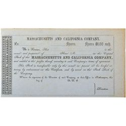 Massachusetts and California Company 2012aug - Numismatic