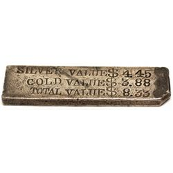 Silver-Gold Ingot c1900 - 2012aug - Numismatic