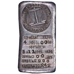 Thorne Mining and Refining Co. Silver Ingot No. 242 AZ - Prescott,Yavapai County - 1890 - 2012aug -