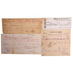 Bullion Receipts CA - 1862-1917 - 2012aug - Numismatic