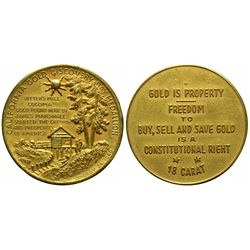 California Gold Discovery Day Medallion CA - El Dorado County - 2012aug - Numismatic