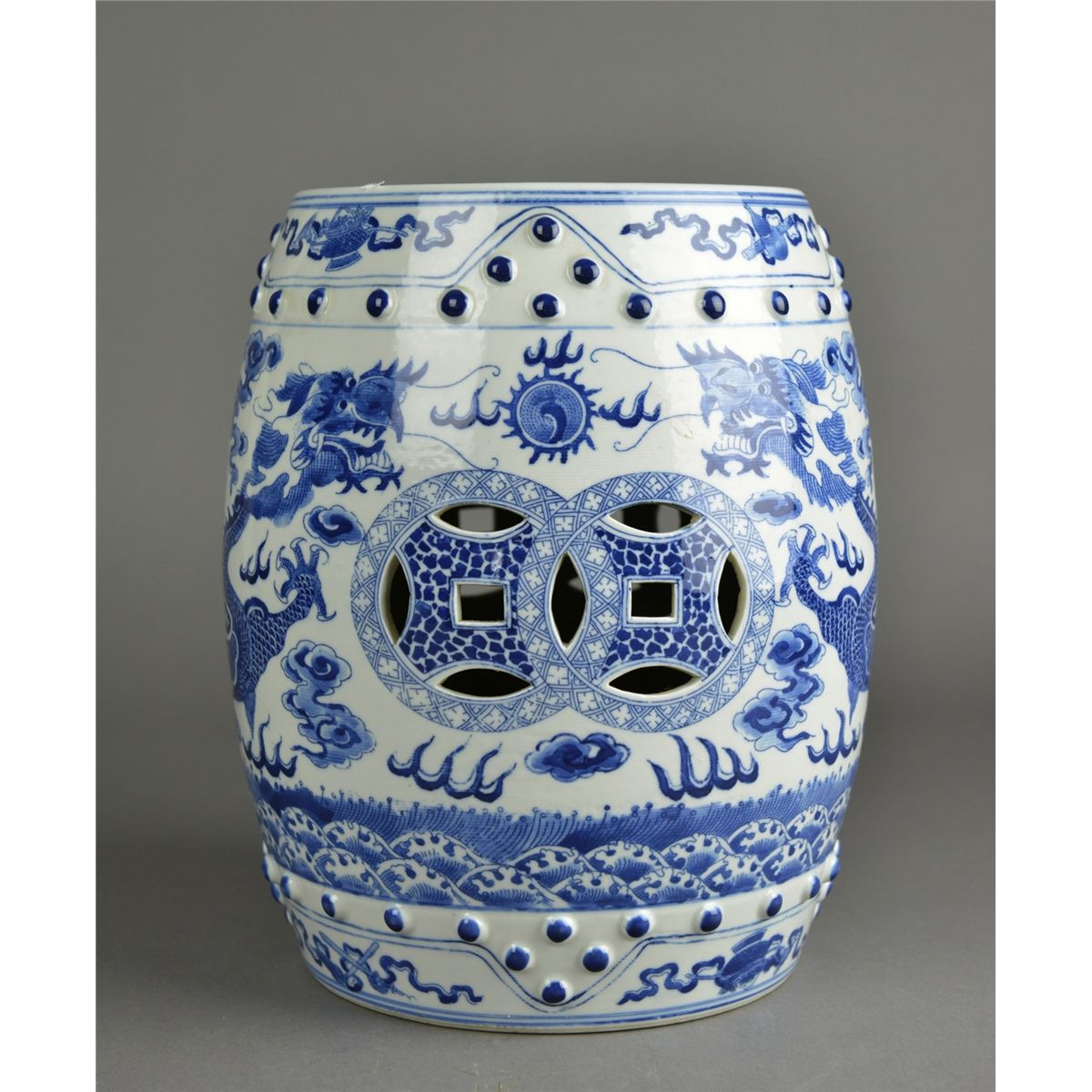 sc 1 st  iCollector.com & Chinese Blue u0026 White Porcelain Garden Stool islam-shia.org