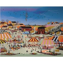 Folk Art COUNTY FAIR Naif Art Print Niky Watanabe