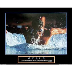 Goals: Swimmer Swimming Photo Print