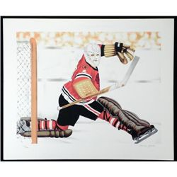 Henry Gorski Blackhawks Goalie S/N Lithograph Print