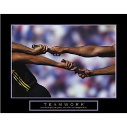 Teamwork - Passing the Baton Relay Race Photo Print