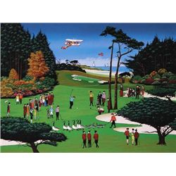 WAIT A MINUTE Golf Nicky Watanabe LE Naive Art Print