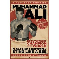 Muhammad Ali Float Like a Butterfly Boxing Poster Print