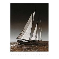 Bill Philip Sailing at Cowes I Art Print
