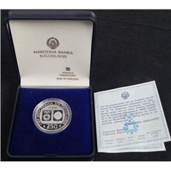 1984 Sarajevo Proof Silver Olympic Coin in Original Box