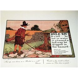 Perrier Golf Rule XIV Lithograph Print