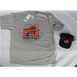 Michael Jordan's Restaurant T Shirt, Hat Cap Bulls NEW