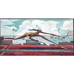 Frank Morrison Got It Womens Tennis Art Print