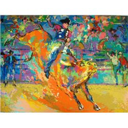 LeRoy Neiman Bull Rider S/N Limited Edition Serigraph