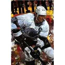 Gretzky KINGS Stephen Holland Double Signed Art Print