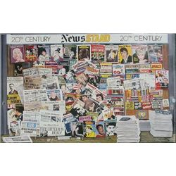 Photo Realist 20th CENTURY NEWSSTAND Ken Keeley Poster