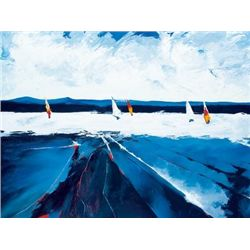 Candice Tait Riding the Waves Sailing Art Print