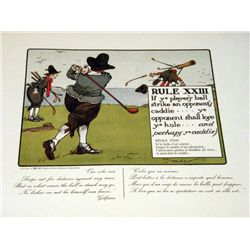 Perrier Golf Rule XXIII Lithograph Print
