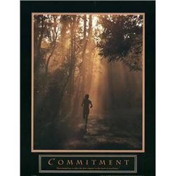 Commitment - Runner Running Sport Photo Print