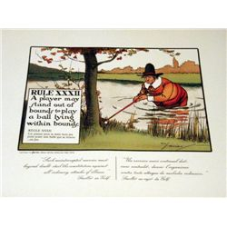 Perrier Golf Rule XXXII Lithograph Print
