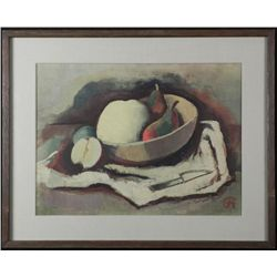 Still Life Art Print Fruit in Bowl Framed