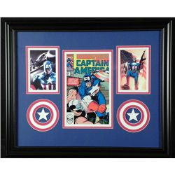 Captain America 378 Comic Book 1990 +2 Pics Custom Frmd
