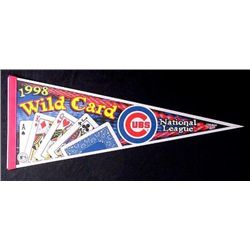 CHICAGO CUBS 1998 Baseball NL WILD CARD PENNANT Mint