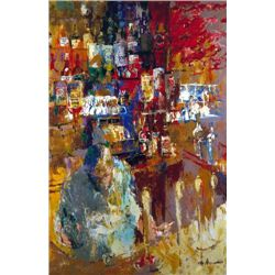 "LeRoy Neiman Signed Golf Art Print ""Grenadier Bar"""