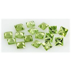 Peridot 5.31 ctw Loose Gemstone 4x4mm Princess Cut
