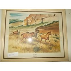 1 Picture Wild Horses signed,