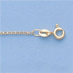 "Genuine 16"" 14k  Gold-Yellow  1.2mm Rolo  Chain 16 1.7g"