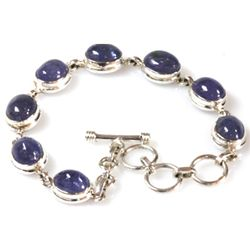 Natural Tanzanite 90.00 ctw. Oval Bracelet .925 Sterlin