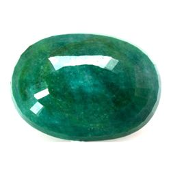 Natural 65.25ctw Emerald Oval Stone