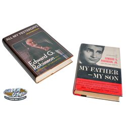 Signed books, All My Yesterdays by Edward G. Robinson & My Father, My Son by Edward G. Robinson Jr.