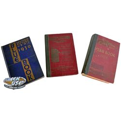 Set of 3 vintage Hollywood directories from the 1920s and 1930s