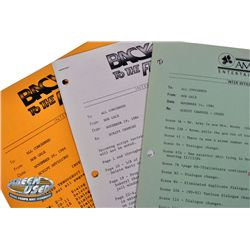Set of 5 vintage Back to the Future inter-office production memos