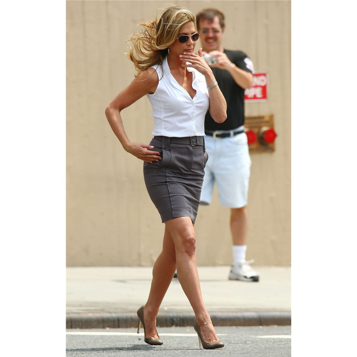 Jennifer Aniston Quot Nicole Hurley Quot Sleeveless Blouse From